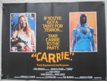 Carrie, Original UK Quad Poster, Sissy Spacek, Piper Laurie, '76